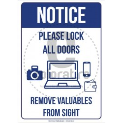 Please Lock All Doors Remove Valuables From Sight