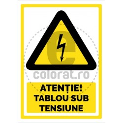Atentie Tablou sub Tensiune