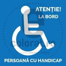 Atentie La Bord Persoana cu Handicap
