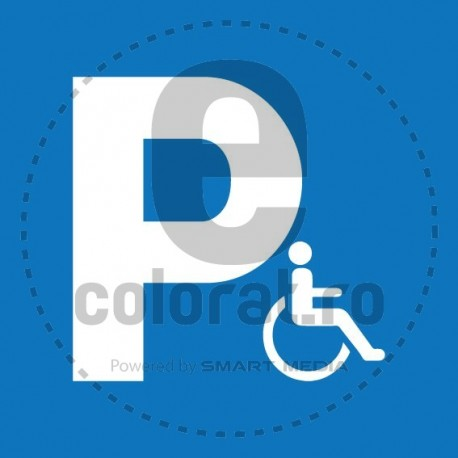 Semn Parcare Rezervata Persoanelor cu Handicap