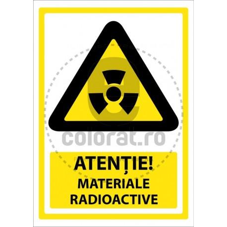 Atentie Materiale Radioactive
