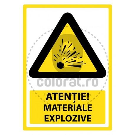Atentie Materiale Explozive