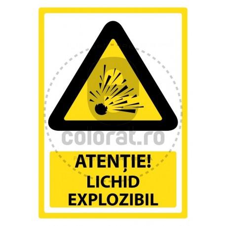 Atentie Lichid Explozibil