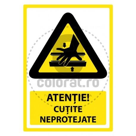 Atentie Cutite Neprotejate