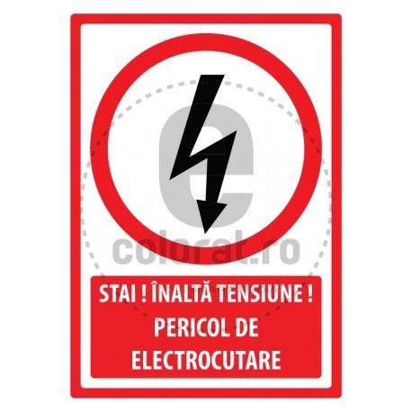 Stai Inalta Tensiune Pericol de Electrocutare