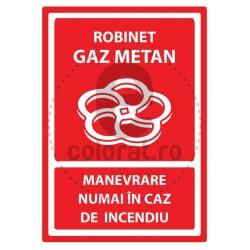 Robinet Gaz Metan Manevrare Numai in Caz de Incendiu