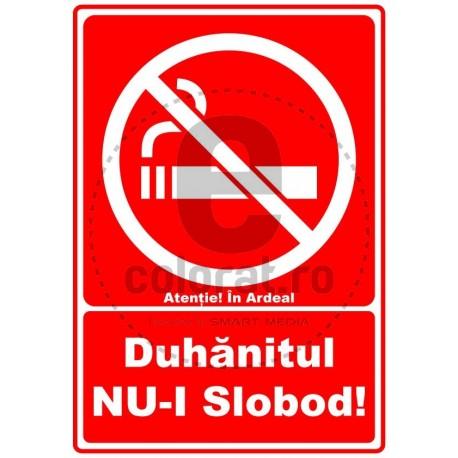 Duhanitul nu-i Slobod in Ardeal