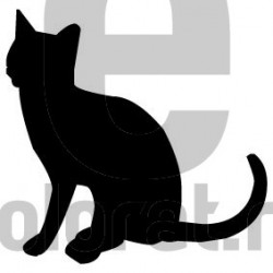 Sticker Decorativ Pisica - 2004