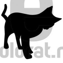 Sticker Decorativ Pisica - 2007
