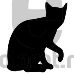 Sticker Decorativ Pisica - 2011