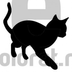 Sticker Decorativ Pisica - 2016