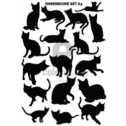 Sticker Decorativ Pisica - Set - 2018