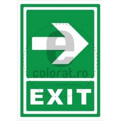 Directie de Evacuare Dreapta Exit