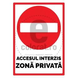Accesul Interzis Zona Privata