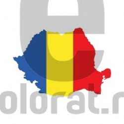 Sticker Auto Harta Romania