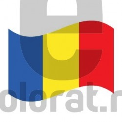 Sticker Auto Steag Romania V2