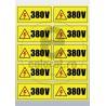 Sticker Atentie Tensiune 380 V - Set 10 Bucati