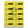 Sticker Atentie Tensiune 400 V - Set 10 Bucati