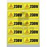 Sticker Atentie Tensiune 230 V - Set 10 Bucati