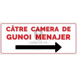 Catre Camera de Gunoi Menajer