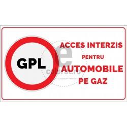 Acces Interzis pentru Automobile pe Gaz