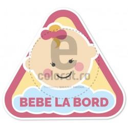 Sticker Auto Bebe la Bord 1