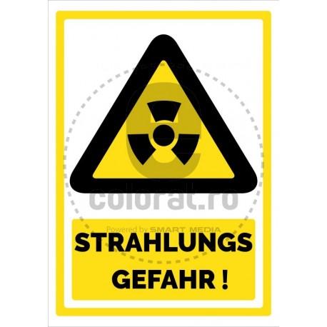 Strahlung Gefahr